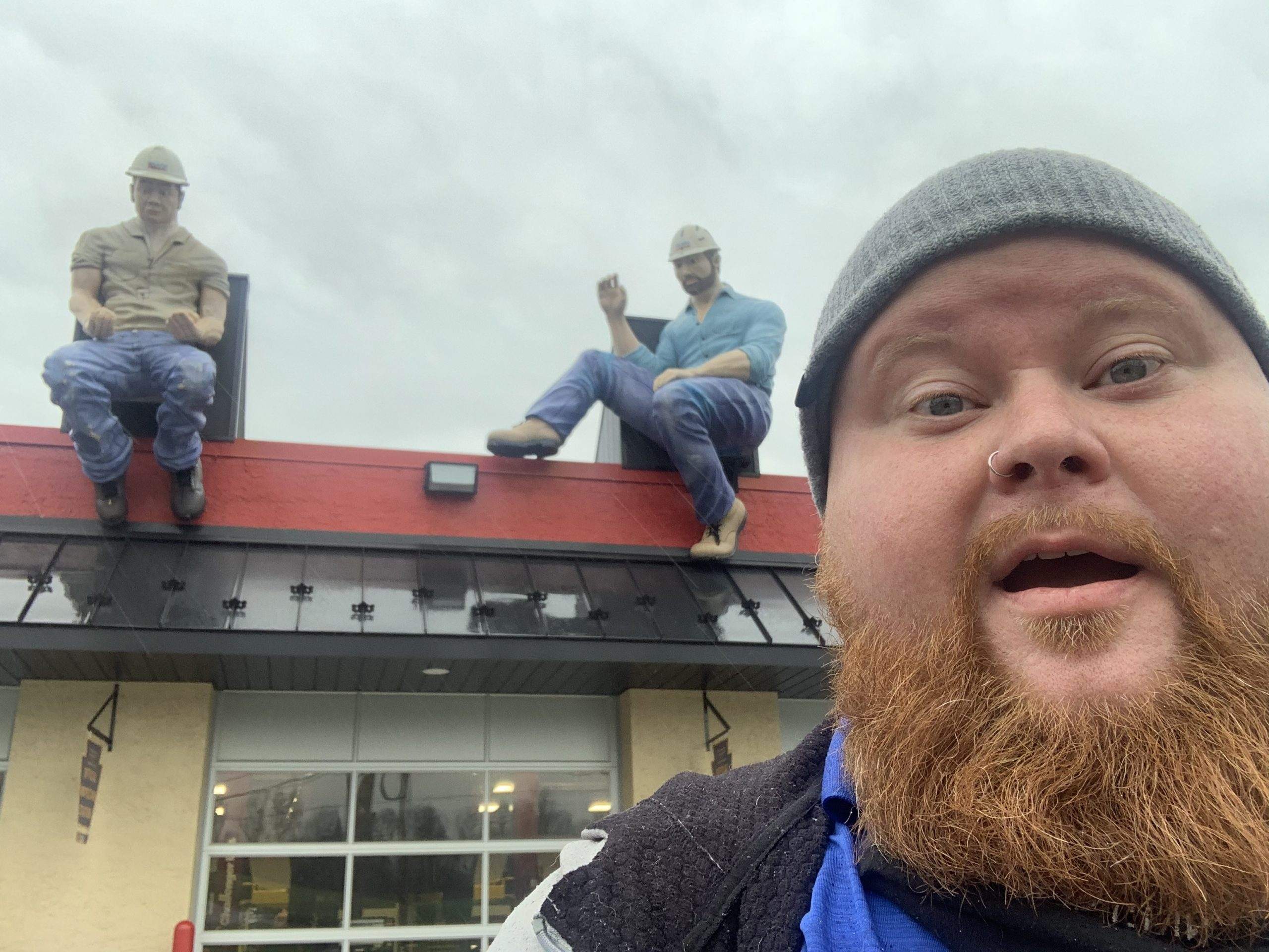 News Update: Statue Construction Workers at Lenny's Auto Repair in Pottstown