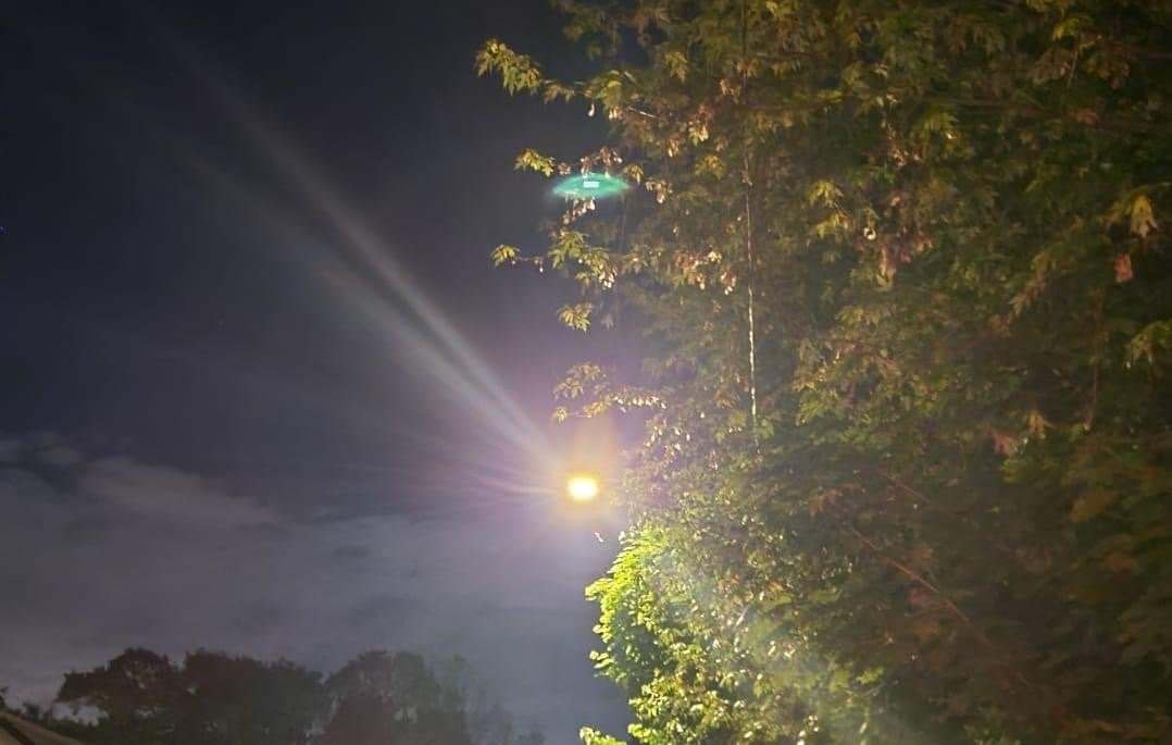 Helicopter on North Side of Phoenixville Taking off in Friendship Field