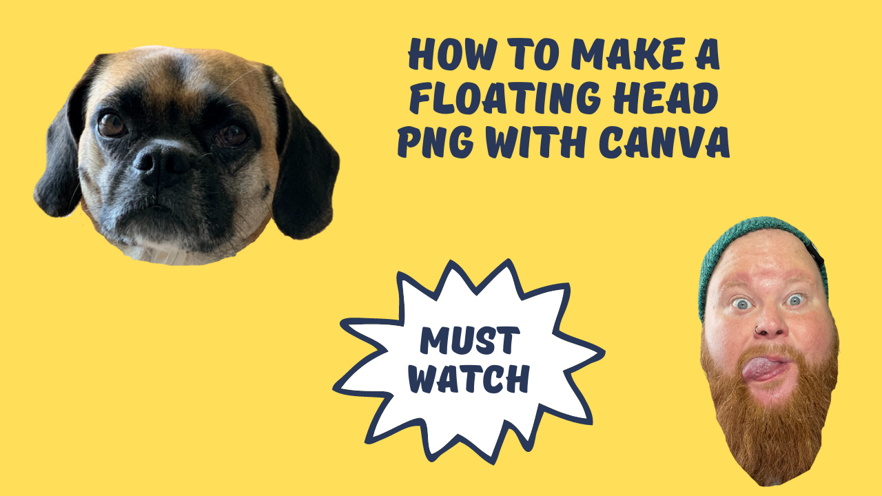 How to make a floating head PNG with Canva