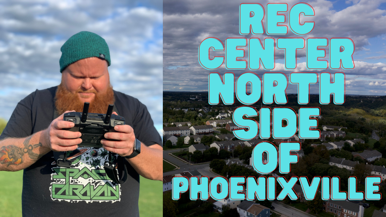 Drone Footage of Rec Center North Side Phoenixville PA